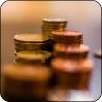 Monete su un tavolo