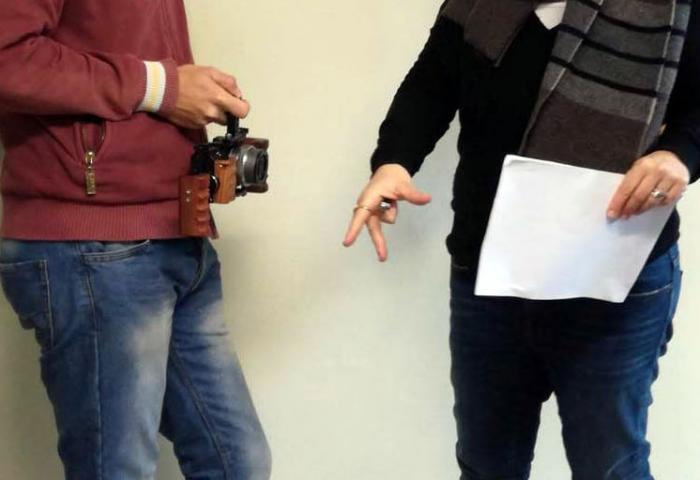 La regista, daniela Lupparelli assieme al Videomaker Simone Felici