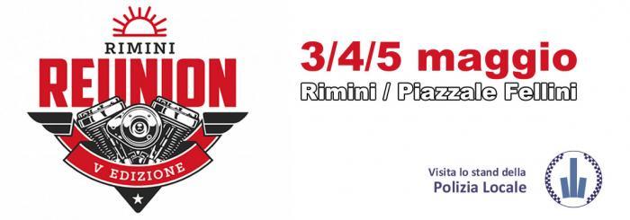 Reunion Rimini 2019 Logo + logo Polizia Locale Rimini